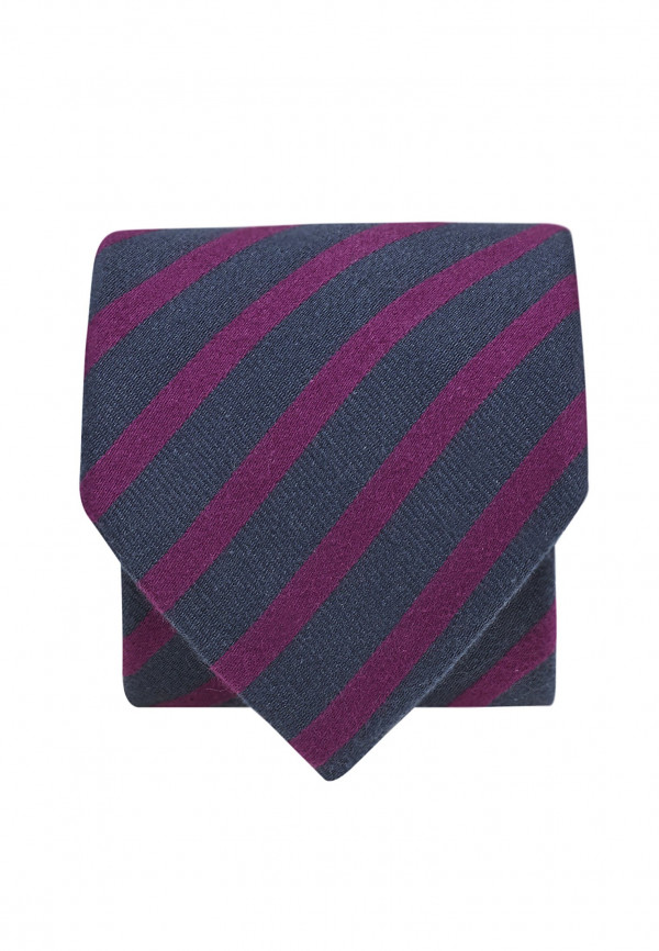Navy And Cerise Texture Stripe Tie