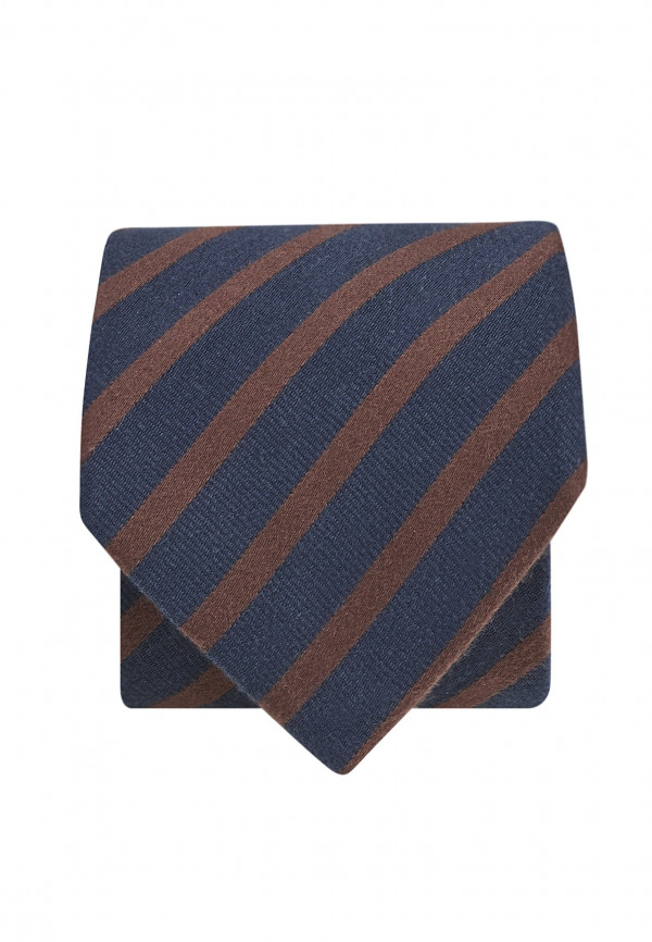 Navy And Mocca Texture Stripe Tie