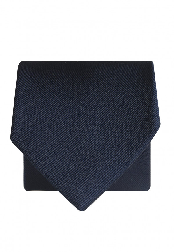 Plain Navy Twill 100% Silk Tie