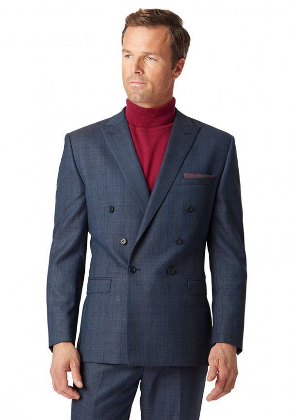 Tiffey Double Breasted Check Suit Jacket