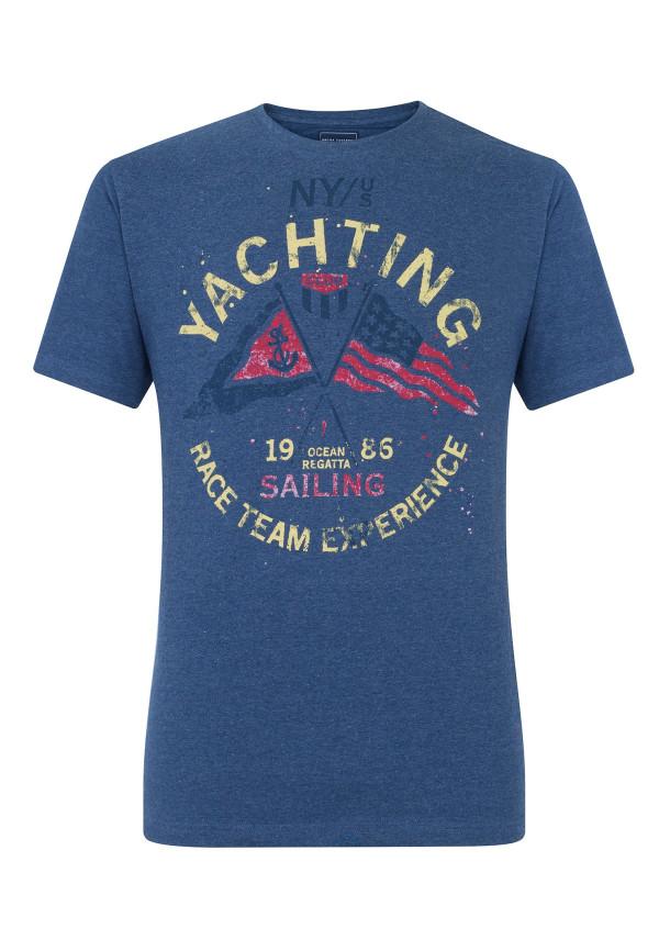 Wilton Denim Nautical Print T-Shirt