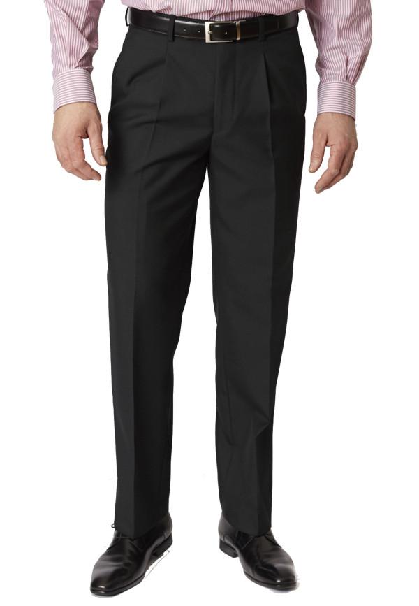 Black Branmarket Classic Fit Wool Blend Trouser