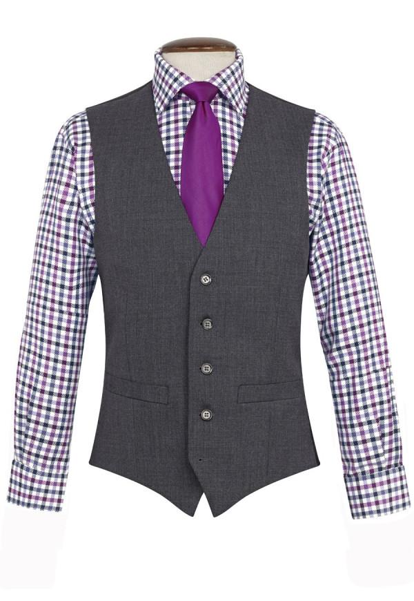 Mid Grey Capital Waistcoat