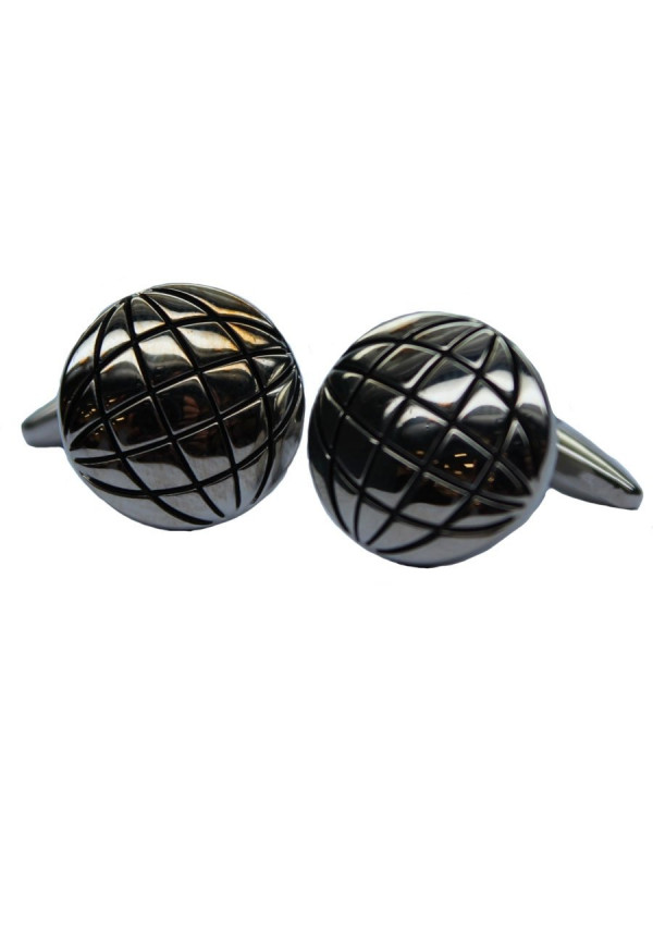 World Circle Chrome Cufflinks