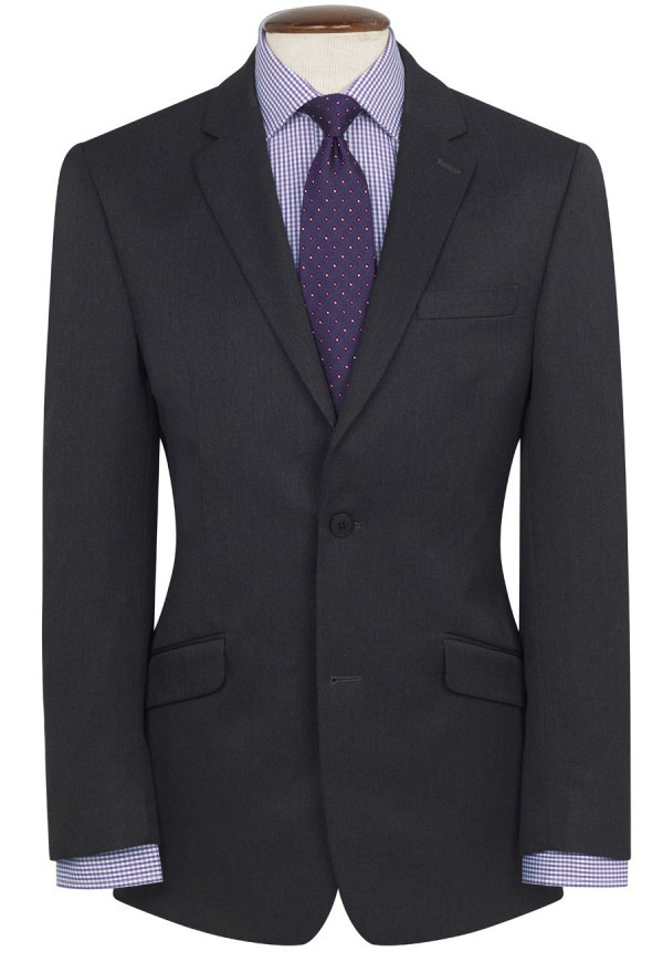 Charcoal Zeus Machine Washable Suit Jacket