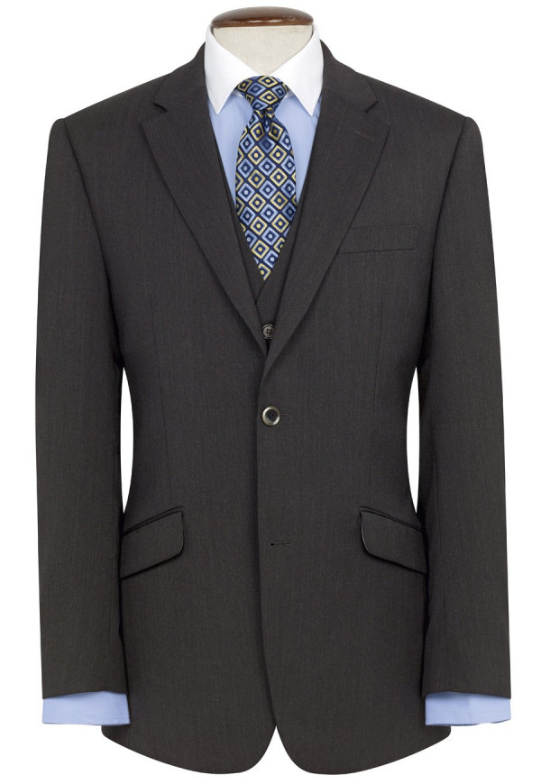Charcoal Aldwych Three Piece Washable Suit Jacket