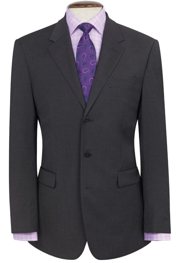 Charcoal Imola Three Button Crease Resistant Jacket