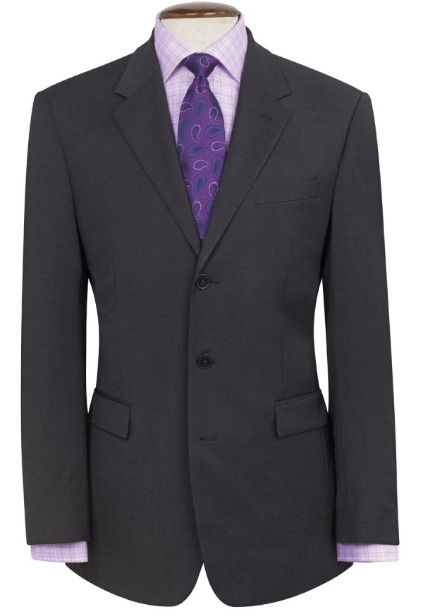 Charcoal Imola Three Button Crease Resistant Suit