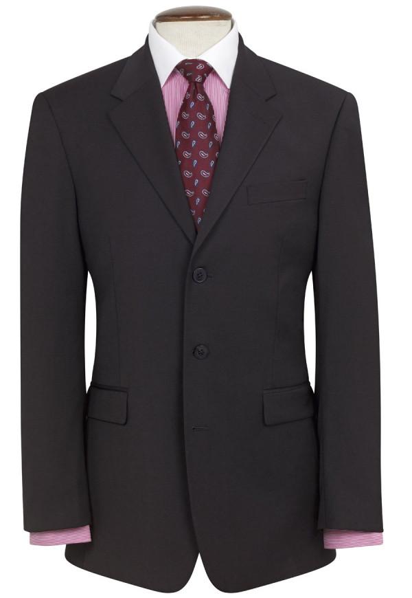 Black Imola Three Button Crease Resistant Jacket
