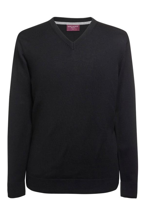 Boston Black V-neck Sweater