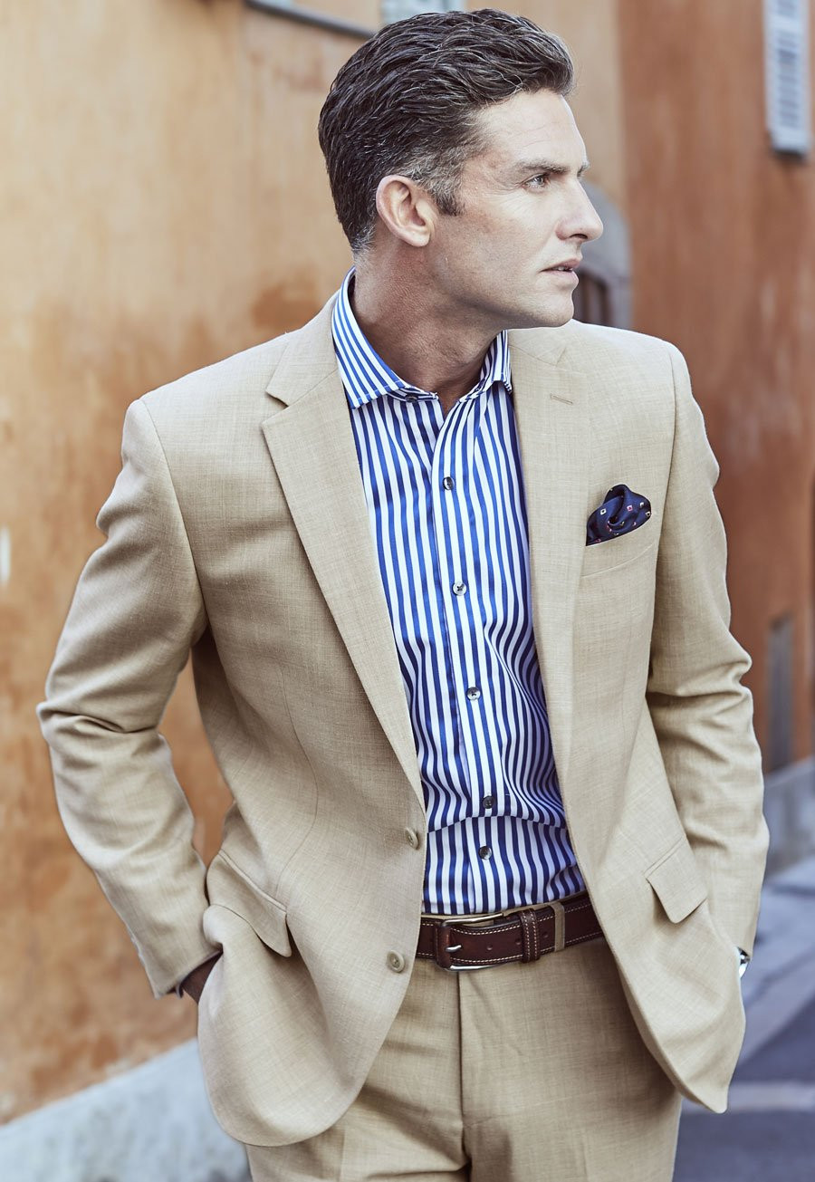 shopping luxuriant in design official Stone Esher Washable Linen Blend Suit