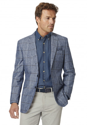 Briggs Classic Fit Chambray Check Jacket