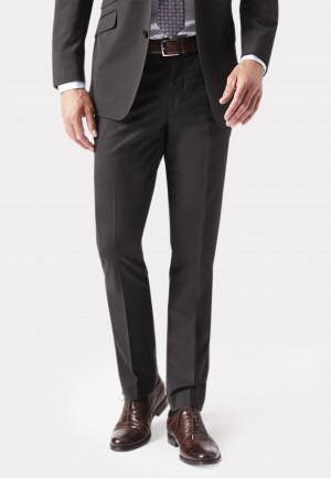 Charcoal Cassino Tailored Fit Washable Suit Trousers