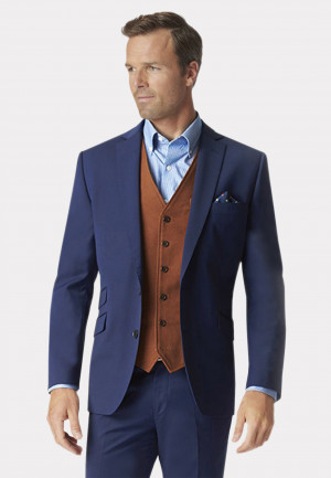 Blue Cassino Tailored Fit Washable Suit Jacket