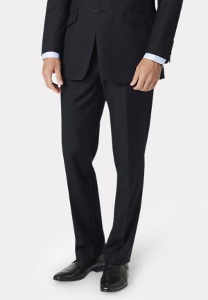 Dawlish Navy Herringbone Suit Trouser