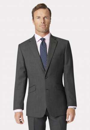 Dawlish Charcoal Birdseye Suit Jacket
