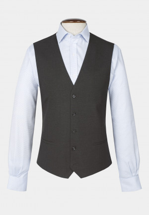 Dijon Charcoal Tailored Fit Three Piece Suit Waistcoat
