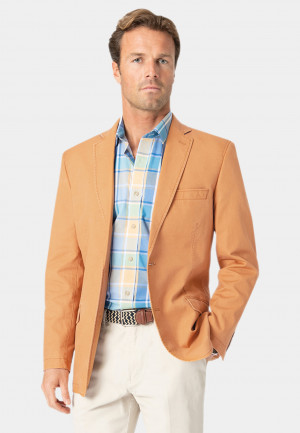 Tatton Apricot Washed Cotton Linen Jacket