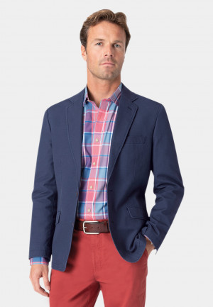 Tatton Indigo Washed Cotton Linen Jacket