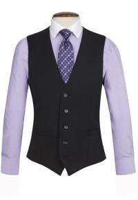 Black Capital Waistcoat
