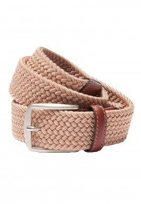 Stone Plaited Stretch Belt