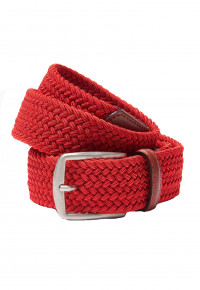 Red Plaited Stretch Belt