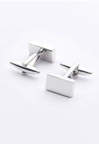 Rectangle Chrome Cufflinks
