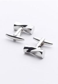Twisted Bar Chrome Cufflinks