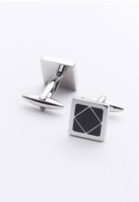 Black Square Chrome Cufflinks