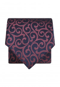 Blue with Red Pattern Silk Tie