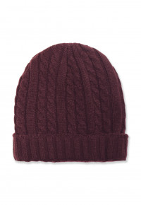 Wine Knitted Beanie Hat