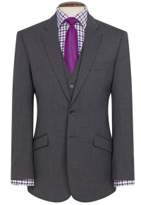 Mid Grey Aldwych Three Piece Washable Suit - Waistcoat Available