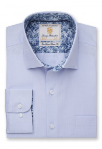 Classic and Tailored Business Casual Fit Sky Blue Shirt