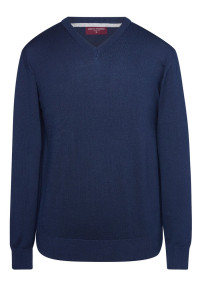 Boston Navy V-neck Sweater