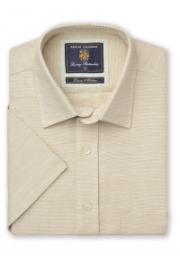 Short Sleeve Sand Micro Check Shirt