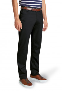 Brunswick Black Stretch CottonTailored Fit Chino