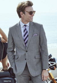 Dawlish Grey Sharkskin Super 110's Suit