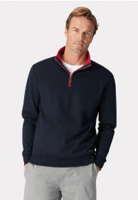 Exeter Navy Zip Neck Sweatshirt