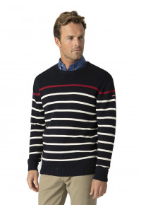 Levant Navy Stripe Crew Neck