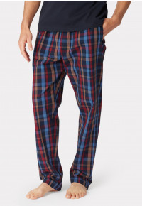 Malton Navy Multi Check Cotton Lounge Pants