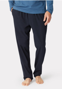 Ossett Navy Cotton Jersey Lounge Pants