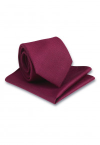 Plain Merlot Hanky And Tie Set