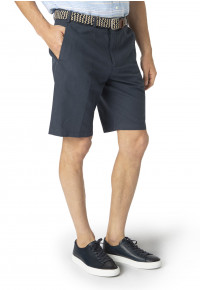 Navy Buckland Cotton Linen Shorts