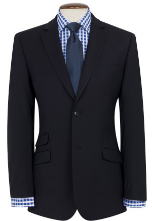 Navy Giglio Tailored Fit Washable Suit Jacket
