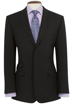 Black Giglio Tailored Fit Washable Suit Jacket