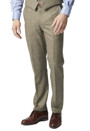 Tennyson Three Piece 100% Wool Country Check Suit Trouser