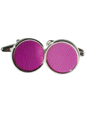 Purple Round Chrome Cufflinks