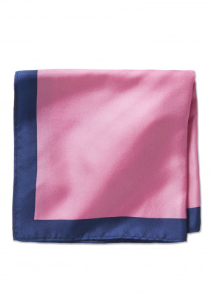 Fuschia 100% Silk Pocket Square
