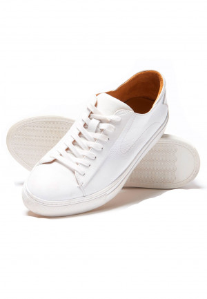 Cape White Sneakers With Rubber Sole