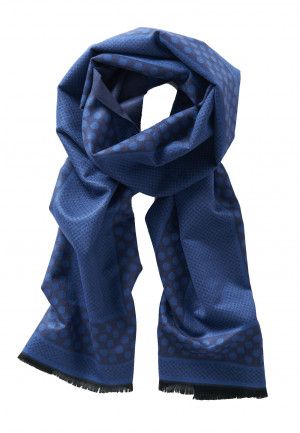 Navy Pattern Lightweight Scarf